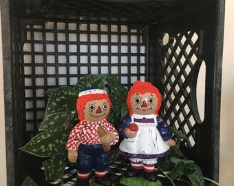 Vintage Raggedy Ann and Andy figurines