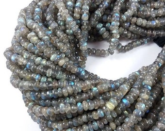 ON SALE 1 Strands 6mm  Labradorite  Beads Stone Smooth Rondelles 15 inch Strands