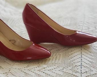 171b35387638 Burgundy Red Platform shoes