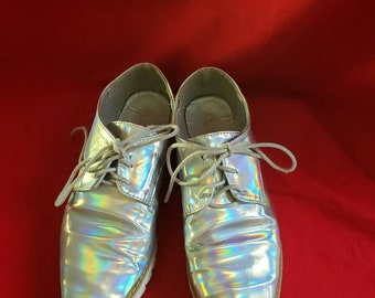 5244014b49 Holographic disco shoes/ Light reflecting