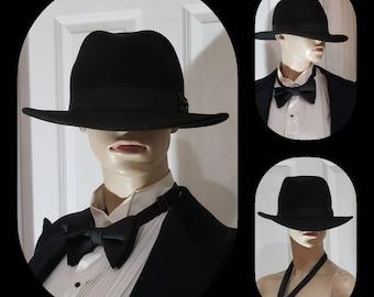 67966f314a1cc Bailey of Hollywood Black Wide Brimmed Fedora Hat