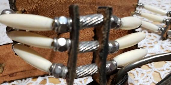 Tooled Western Leather Belt - image 9