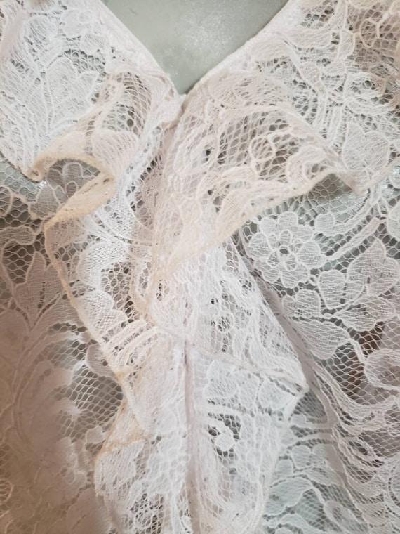 Victorian lace ruffle blouse - image 2