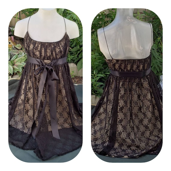 Empire Waist Goth Lace Dress