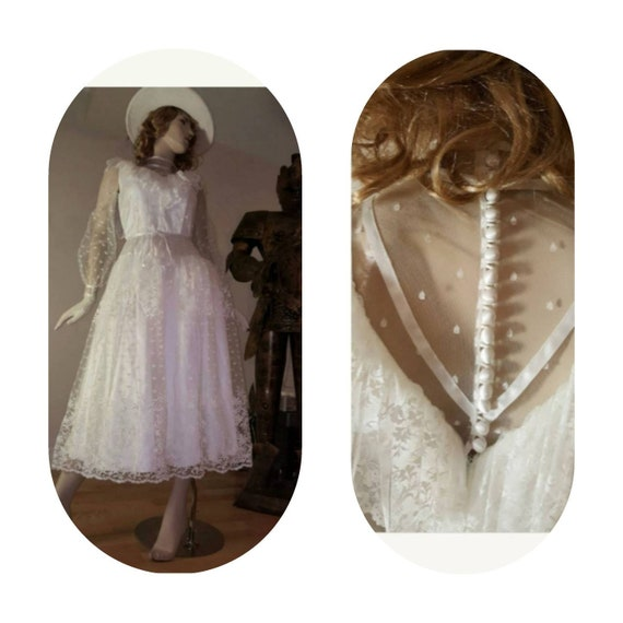 Bohemian Ruffle Lace Tea Party Dress