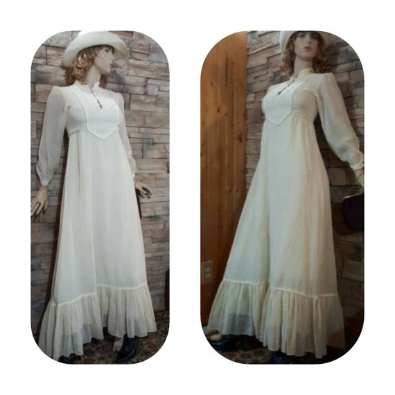 Long 70s prairie dress