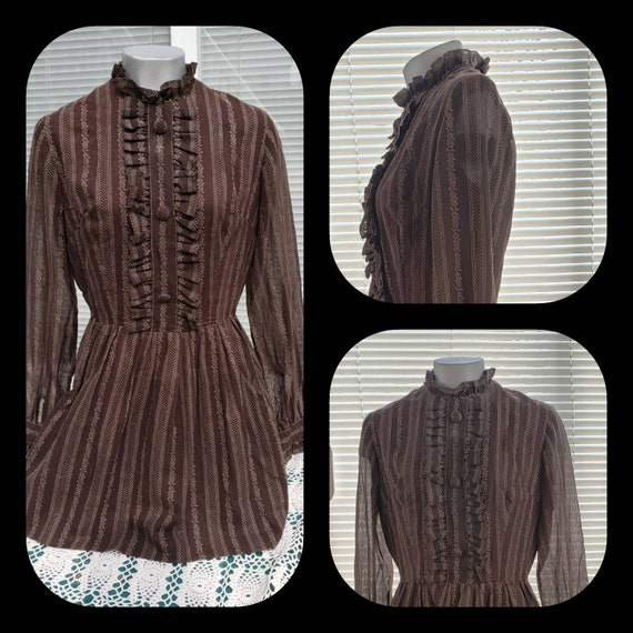 Striped Victorian cosplay  blouse