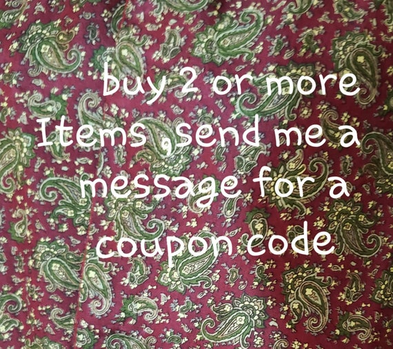 60s burgundy paisley print gentlemen scarf - image 10