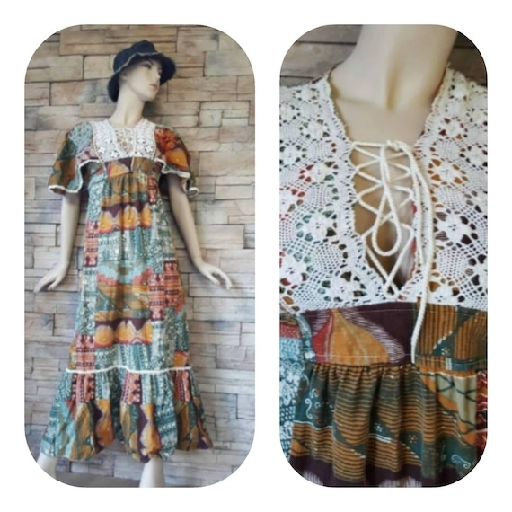 Hippie maxi dress/60s boho costume