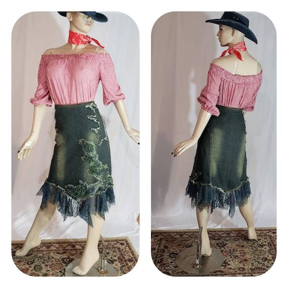 Bohemian Denim skirt