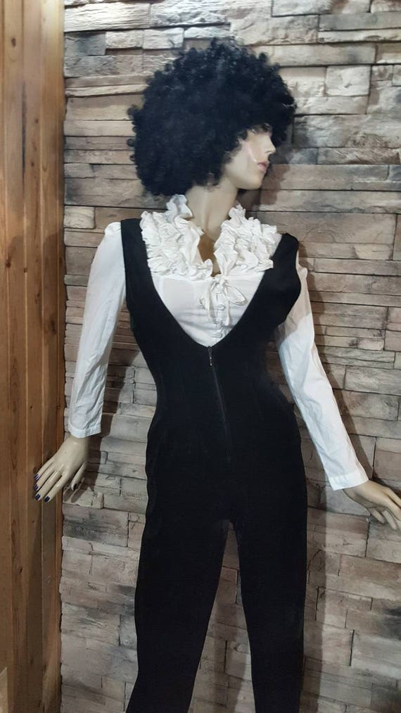 Disco overall and silver top/Velvet jumpsuit - image 9