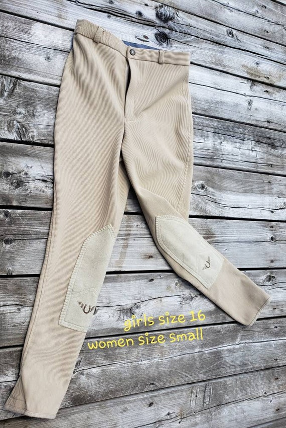 Beige Equestrian Riding Pants