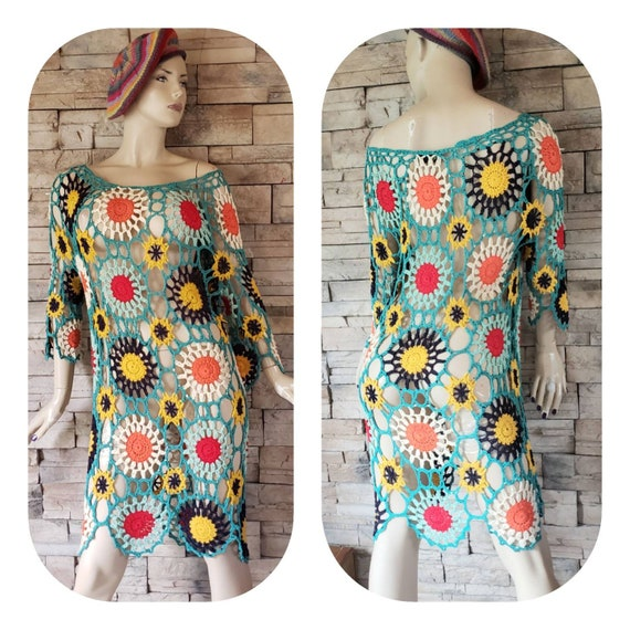 Bohemian Crochet Tunic