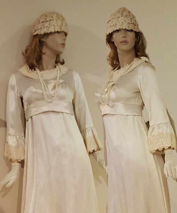 Ivory Edwardian Gown with Train