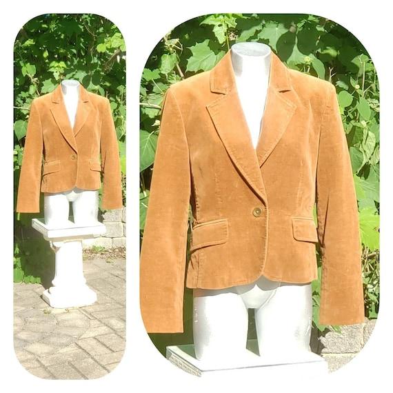 Burnt orange velvet blazer