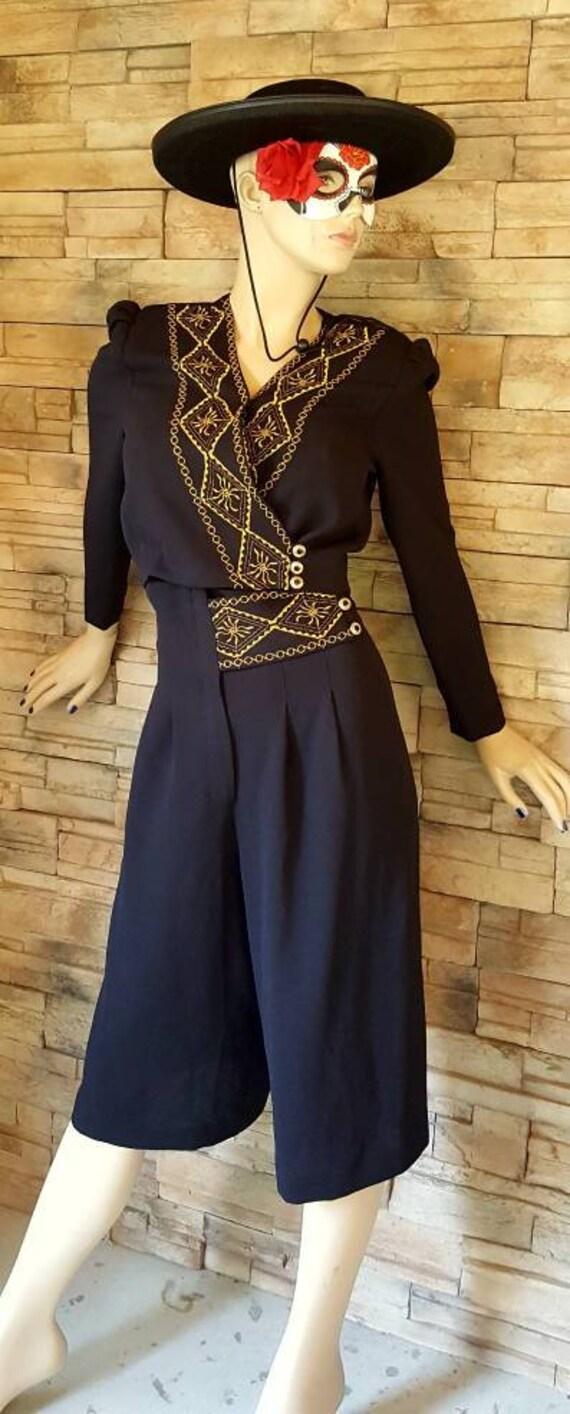 Mariachi Outfit/Goucho Pants Blazer Set - image 2