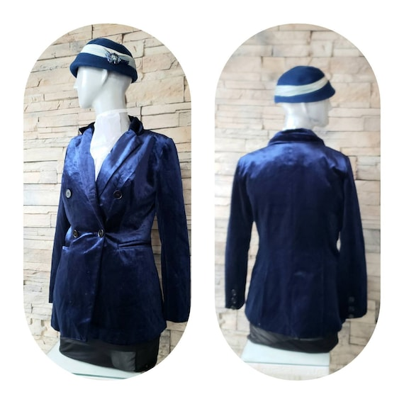Royal Blue Velvet Blazer