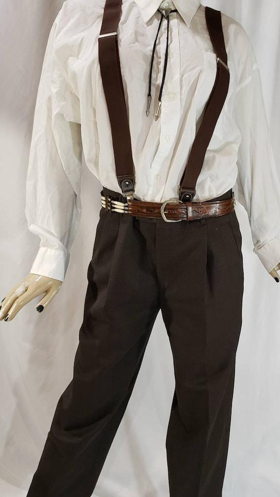 Tooled Western Leather Belt - image 4