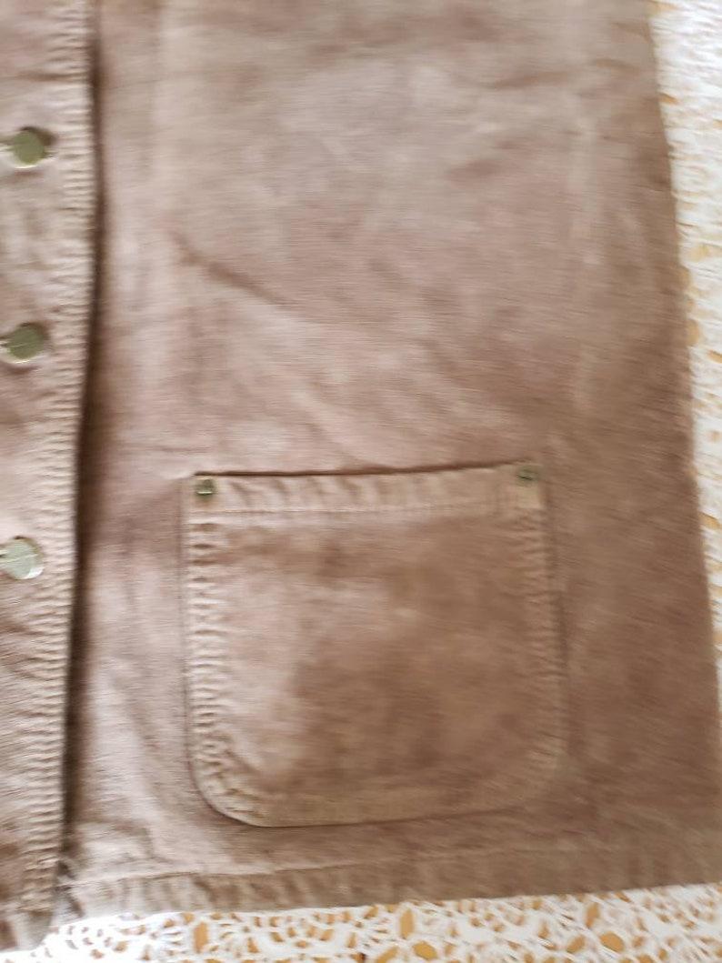 Steampunk aviator waist coatwashable suede leather vest