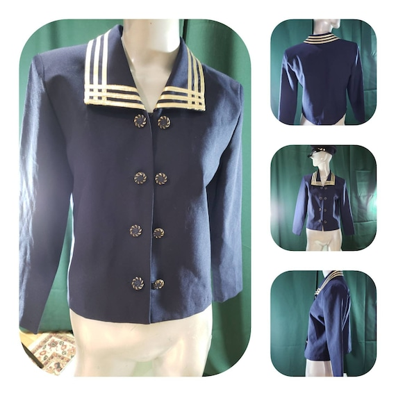 Nautical double breasted blazer