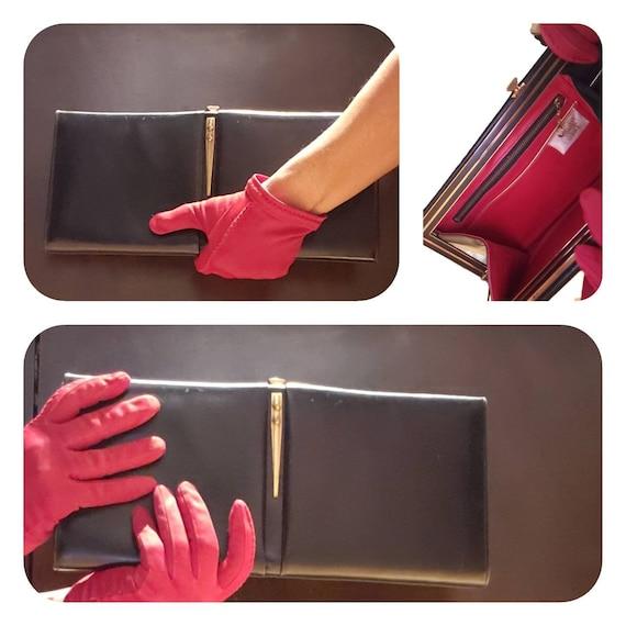50s black clutch purse by Bally Dolcis