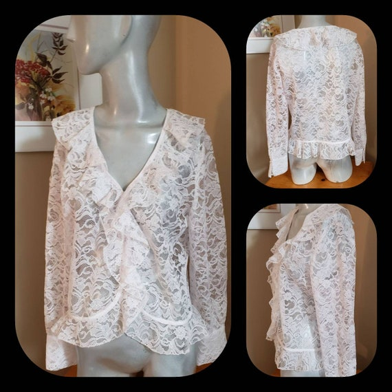 Victorian lace ruffle blouse