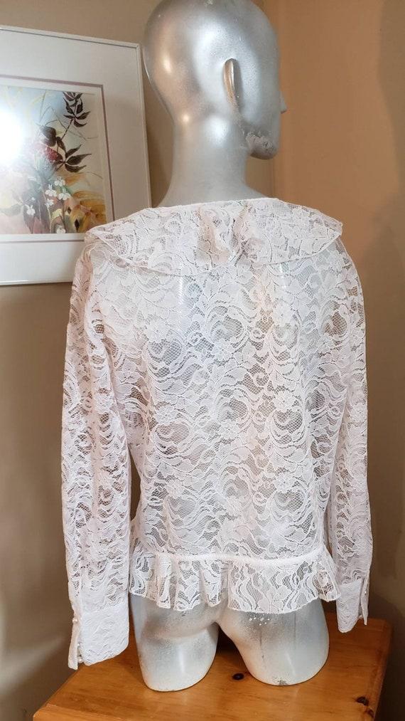 Victorian lace ruffle blouse - image 5