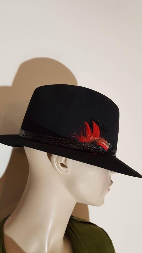 f7d2aa8a675 Men s wool Felt Fedora hat Gentleman Hat Gatsby hat