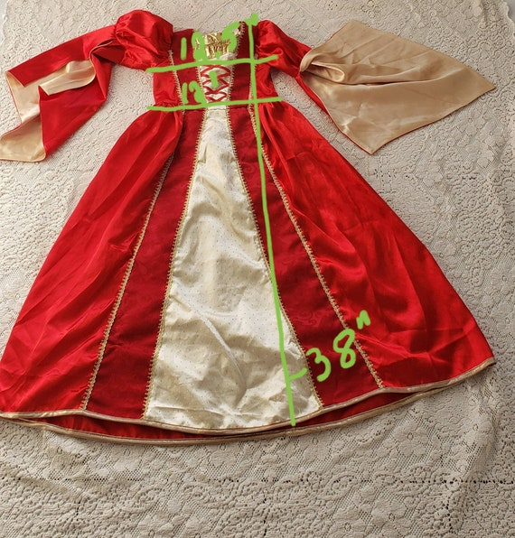 Medieval princess dress/Red Queen - image 9