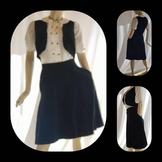 Velvet Skirt Vest Set