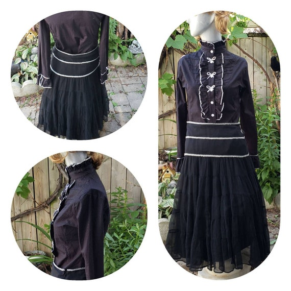 Gothic Lolita Blouse Skirt Set
