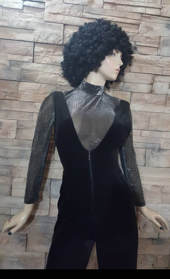 Disco overall and silver top/Velvet jumpsuit - image 3