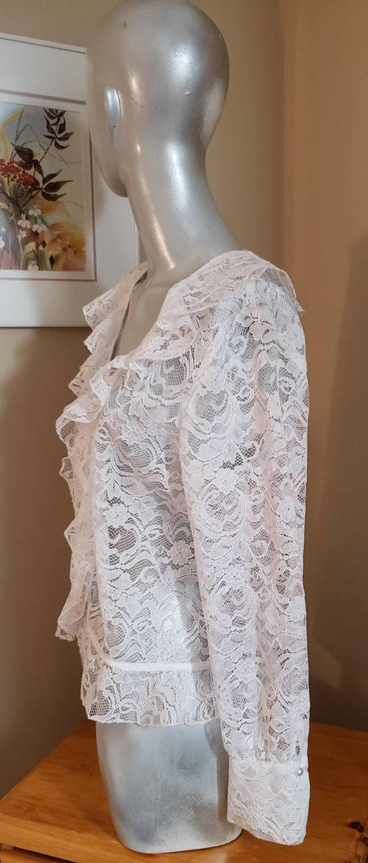 Victorian lace ruffle blouse - image 6