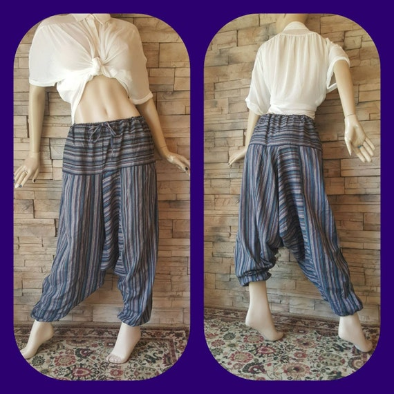 Gaucho Cosplay Trousers Unisex Stripped  Harem Pan