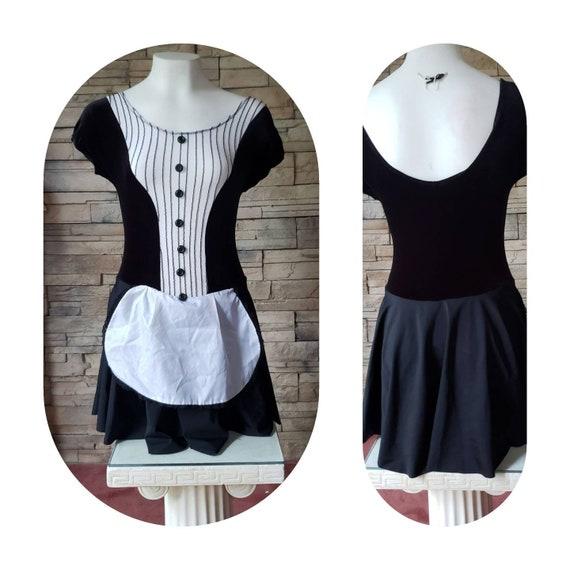 French maid leotard costume
