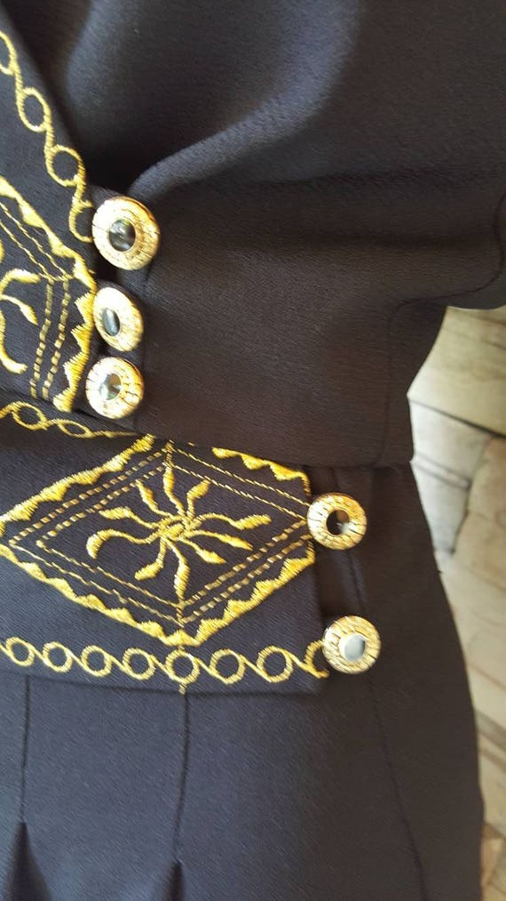 Mariachi Outfit/Goucho Pants Blazer Set - image 7