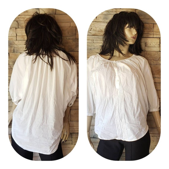 White Cotton cape Gypsy Blouse