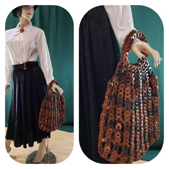 Woven Leather Nanny Market bag