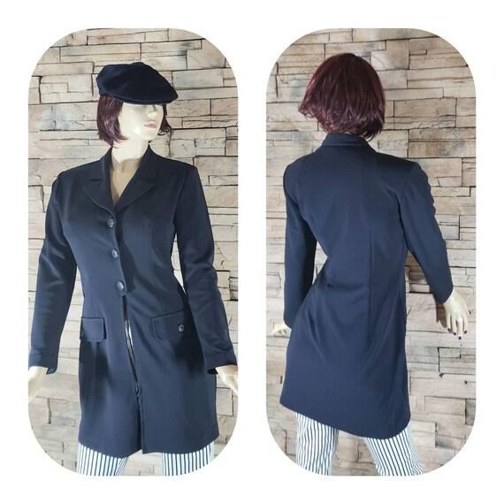 Navy Blue Nautical Overcoat