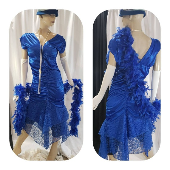 Royal-Blue Roaring 20's Cocktail Dress