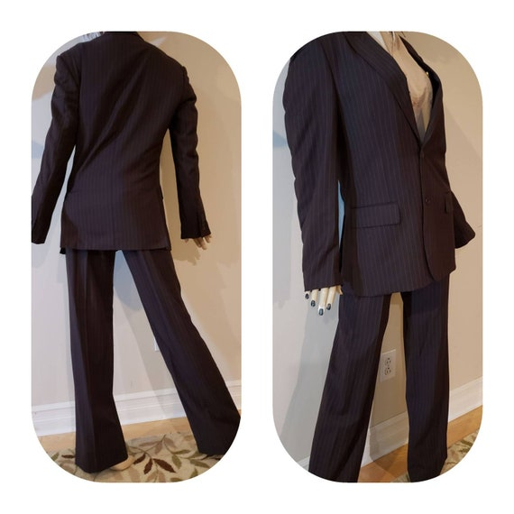 Men's Brown pinstripe suit/ roaring 20s