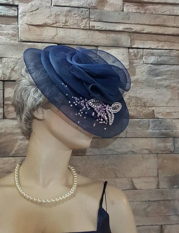 Blue Victorian hat