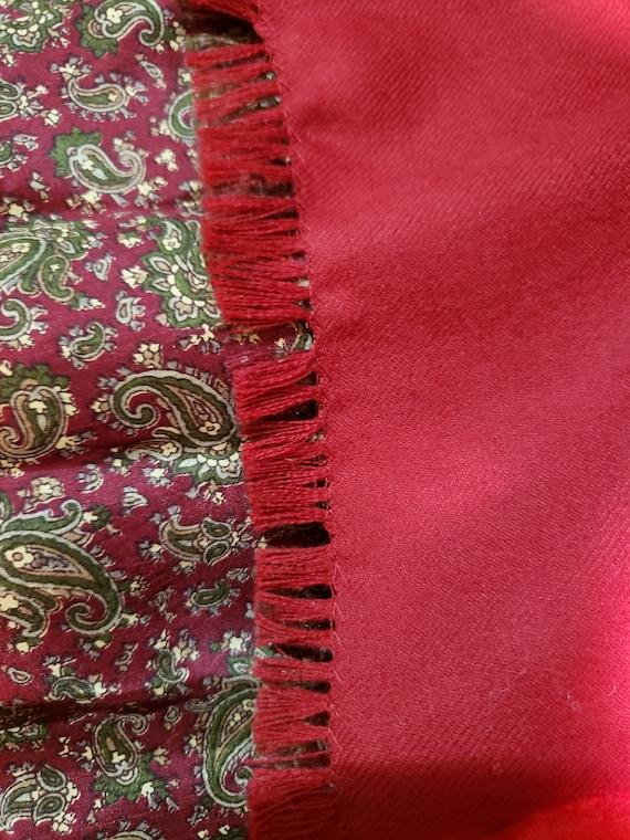 60s burgundy paisley print gentlemen scarf - image 8