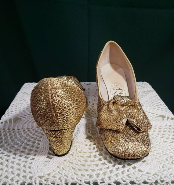 Gold Victorian Costume Shoes