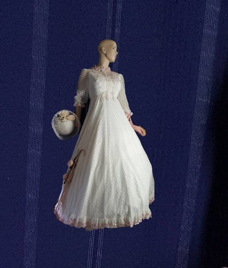 Retro Wedding Gown Hat Victorian Lady Southern Belle Etsy