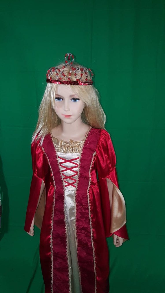 Medieval princess dress/Red Queen - image 8