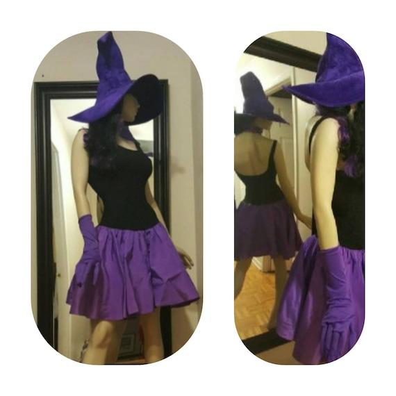 Purple Witch 80's Prom Dress