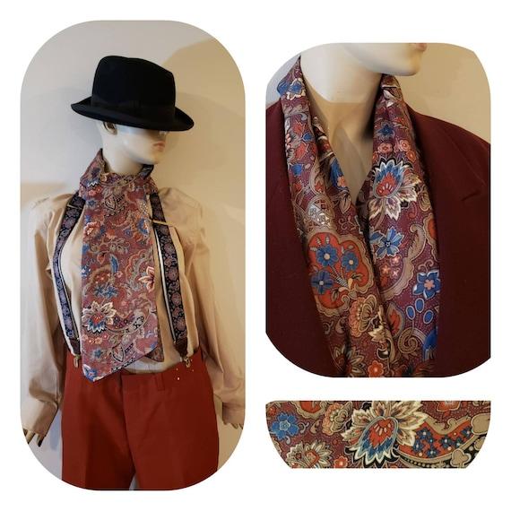Vintage  40s large gentlemen scarf/mens 50s cravat
