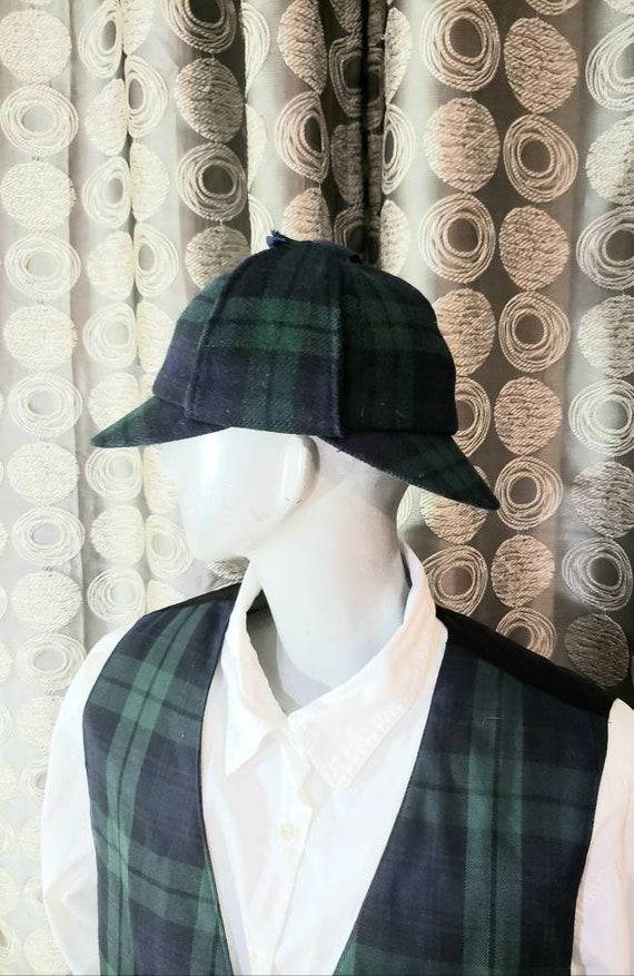 Vintage Deerstalker Tartan Hat