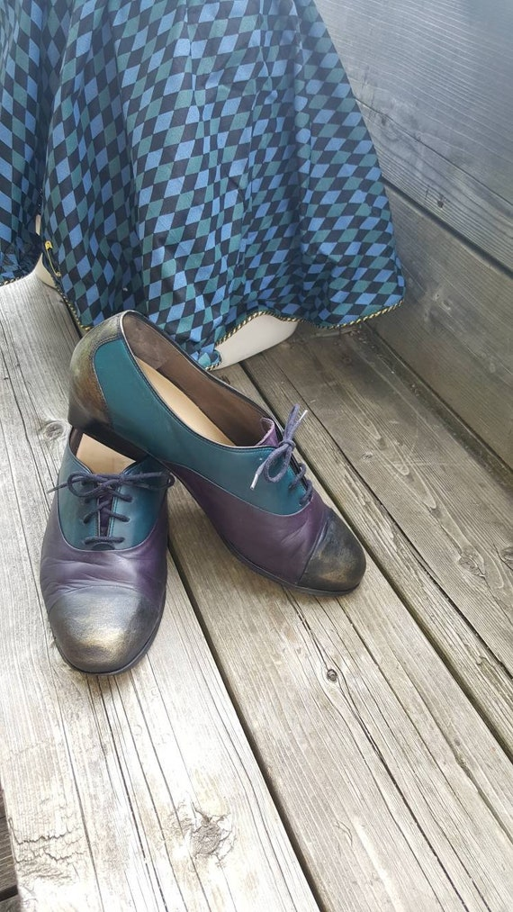 Oxford Leather Shoes Steampunk Victorian Cosplay P